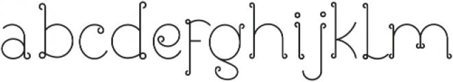 Rose ttf (400) Font LOWERCASE