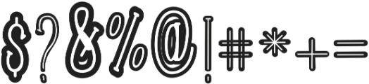 Roselle Outline otf (400) Font OTHER CHARS