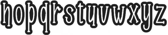 Roselle Outline otf (400) Font LOWERCASE