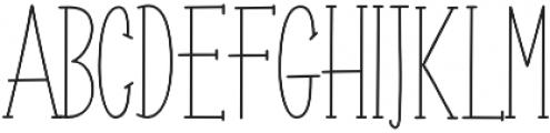 Roselle line otf (400) Font UPPERCASE