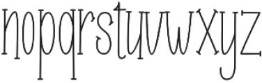 Roselle line otf (400) Font LOWERCASE