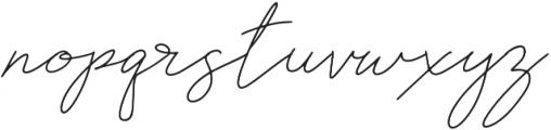 Rosenbloom Regular otf (400) Font LOWERCASE
