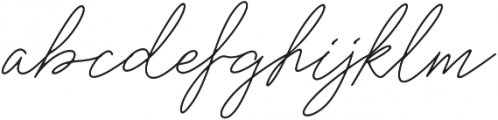 Rosenbloom Regular ttf (400) Font LOWERCASE