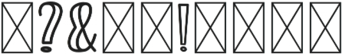 Roserina Jaxolyn Regular otf (400) Font OTHER CHARS