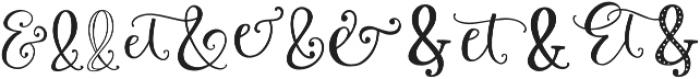 Roseroot Cottage Ampersands otf (400) Font UPPERCASE