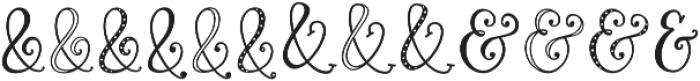 Roseroot Cottage Ampersands otf (400) Font LOWERCASE