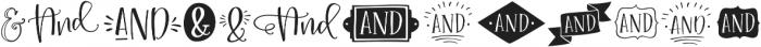 Roseroot Cottage Ampersands ttf (400) Font LOWERCASE