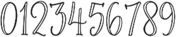 Roseroot Cottage Serif Hollow otf (400) Font OTHER CHARS