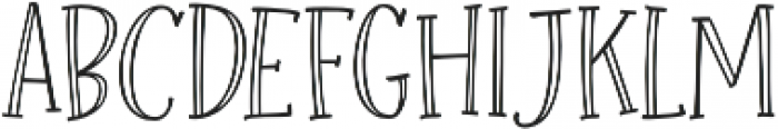 Roseroot Cottage Serif Hollow otf (400) Font UPPERCASE