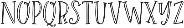 Roseroot Cottage Serif Hollow otf (400) Font LOWERCASE