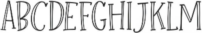 Roseroot Cottage Serif Hollow ttf (400) Font UPPERCASE