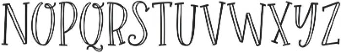 Roseroot Cottage Serif Hollow ttf (400) Font LOWERCASE