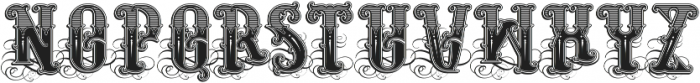 Rosewell decorative otf (400) Font UPPERCASE