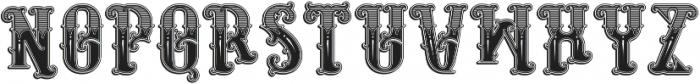 Rosewell regular otf (400) Font UPPERCASE