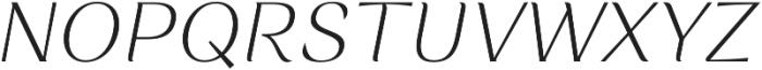 Rossanova Extra Light Italic otf (200) Font UPPERCASE