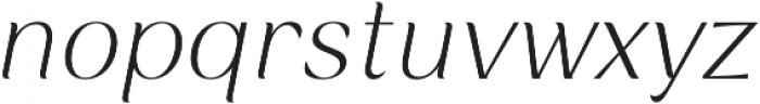 Rossanova Extra Light Italic otf (200) Font LOWERCASE