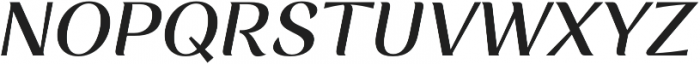 Rossanova Medium Italic otf (500) Font UPPERCASE
