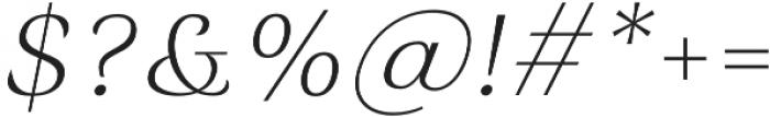 Rossanova Text Extra Light Italic otf (200) Font OTHER CHARS