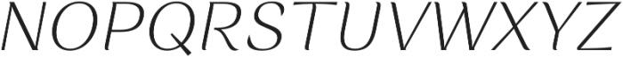Rossanova Text Extra Light Italic otf (200) Font UPPERCASE