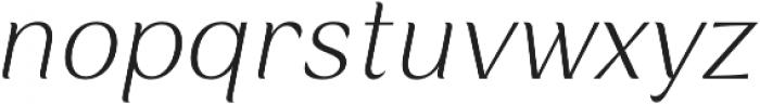 Rossanova Text Extra Light Italic otf (200) Font LOWERCASE