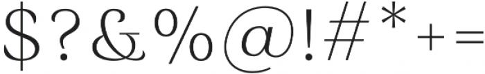 Rossanova Text Extra Light otf (200) Font OTHER CHARS