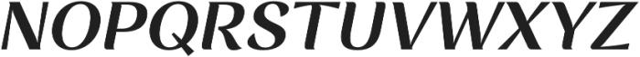 Rossanova Text Semi Bold Italic otf (600) Font UPPERCASE