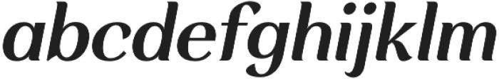 Rossanova Text Semi Bold Italic otf (600) Font LOWERCASE