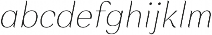 Rossanova Text Thin Italic otf (100) Font LOWERCASE