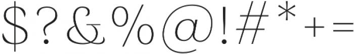 Rossanova Text Thin otf (100) Font OTHER CHARS