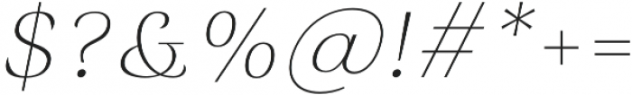Rossanova Thin Italic otf (100) Font OTHER CHARS