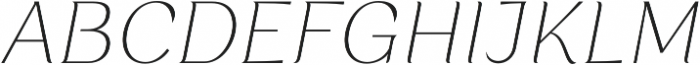 Rossanova Thin Italic otf (100) Font UPPERCASE