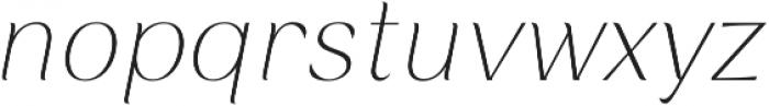 Rossanova Thin Italic otf (100) Font LOWERCASE