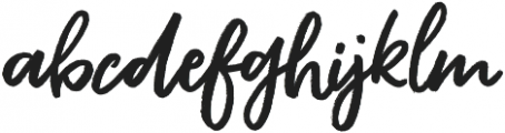 Rouged otf (400) Font LOWERCASE