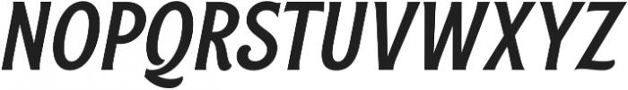 Rough Cut Italic Clean otf (400) Font UPPERCASE