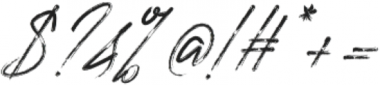 Rough Italic otf (400) Font OTHER CHARS