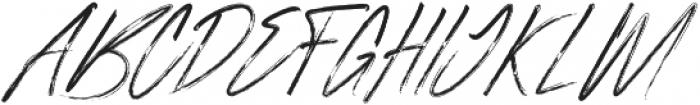 Rough Italic otf (400) Font UPPERCASE