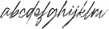 Rough Italic otf (400) Font LOWERCASE