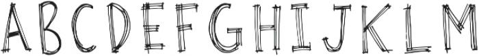 Rough Sketch PF otf (400) Font UPPERCASE