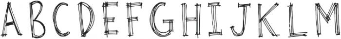 Rough Sketch PF otf (400) Font LOWERCASE