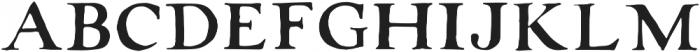 RoughAntiquaAllCaps Regular otf (400) Font UPPERCASE