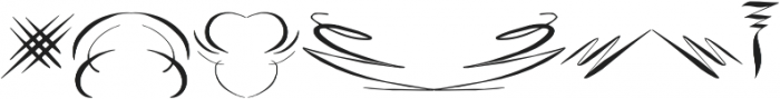 RoughFleuronsCalligraphic Regular ttf (400) Font OTHER CHARS