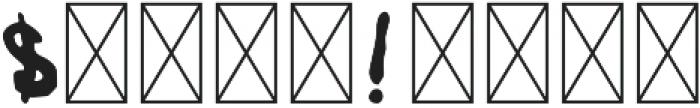 RoughSprayVector Regular otf (400) Font OTHER CHARS