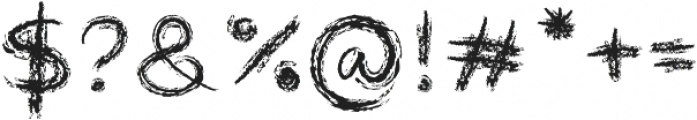 Roundish Crayon otf (400) Font OTHER CHARS