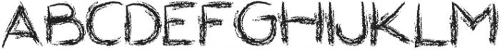 Roundish Crayon otf (400) Font UPPERCASE