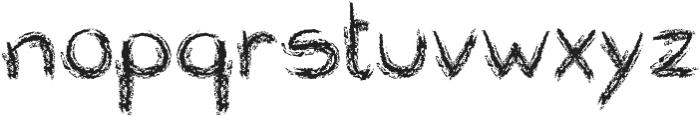 Roundish Crayon otf (400) Font LOWERCASE