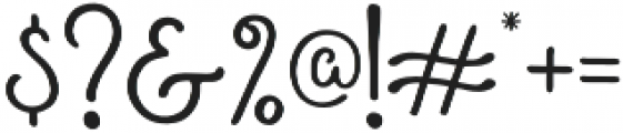 Roundless Script otf (400) Font OTHER CHARS