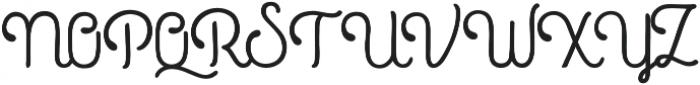 Roundless Script otf (400) Font UPPERCASE