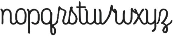 Roundless Script otf (400) Font LOWERCASE
