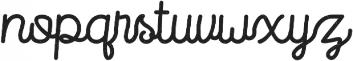 Routerline Bold Rough otf (700) Font LOWERCASE