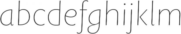 Rowton Sans FY Hairline Italic otf (100) Font LOWERCASE